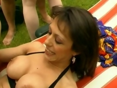 European haughtiness swinger sex outdoors with our milf babes taped on cam
